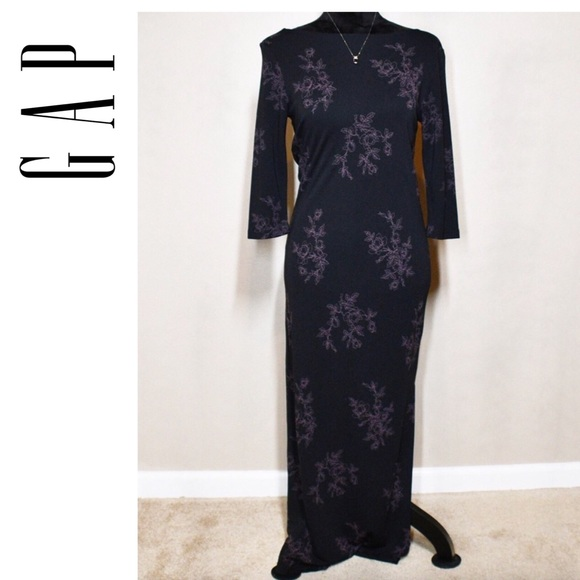 GAP Dresses & Skirts - GAP Floral Sheath Maxi Side Slit Small